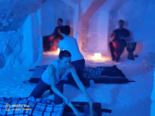 Массаж в соляной пещере
