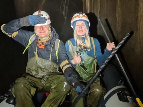 Сплав на лодке по подземной реке Хапиловке